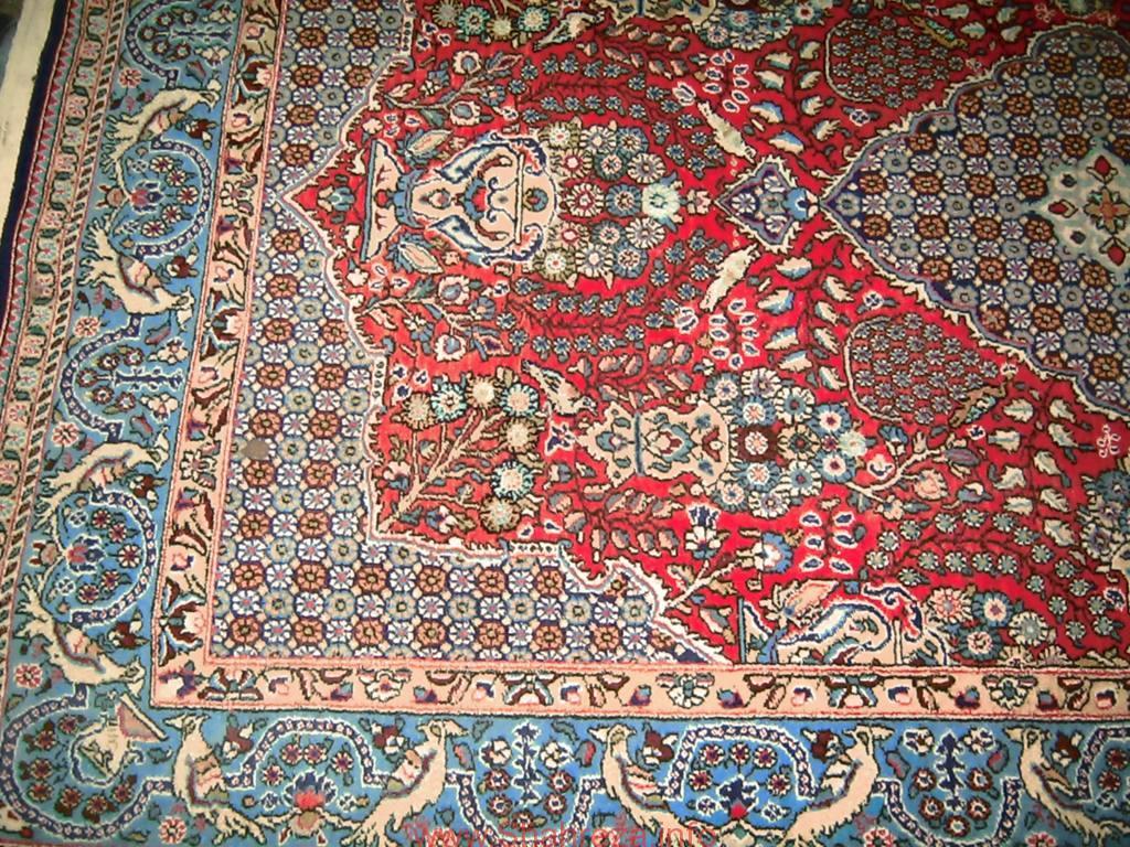 فرش بافته شده با طرح حج خانومی
