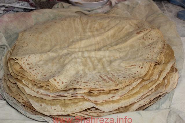 پخت نان یوخه عشایر قشقایی